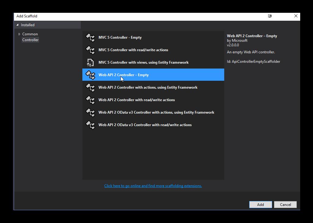 Create API Controller