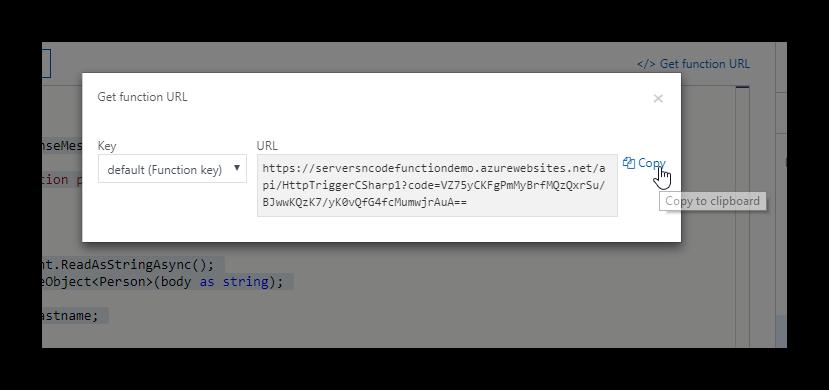 Azure Function URL