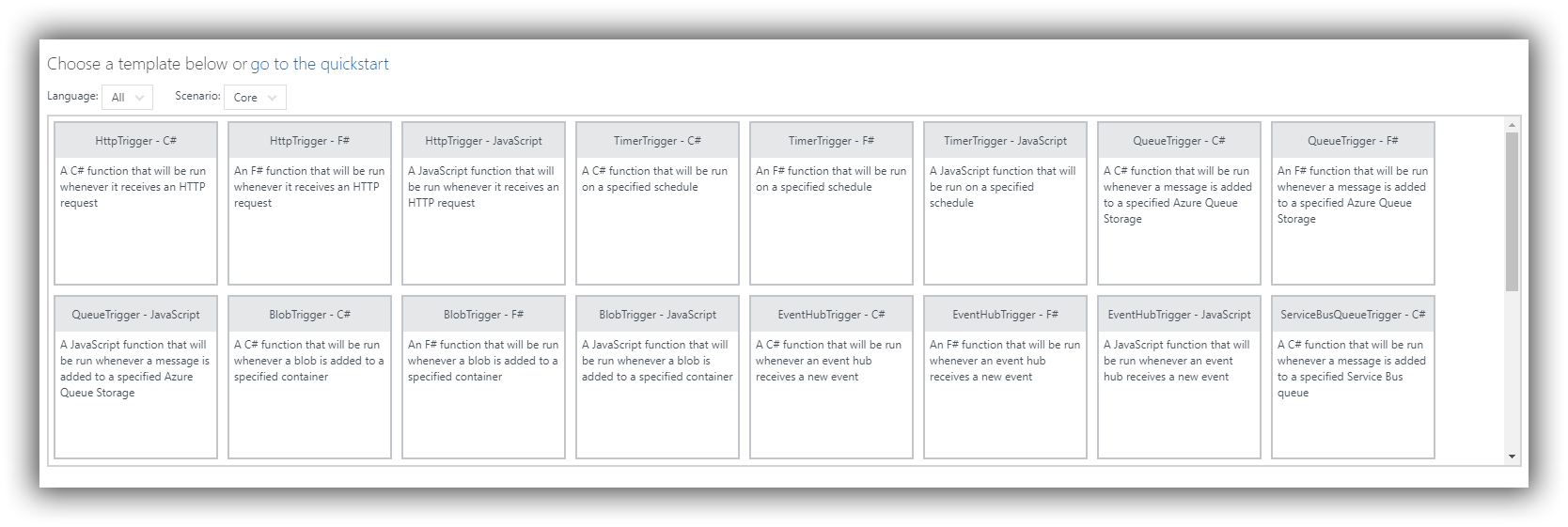 Azure Function Triggers