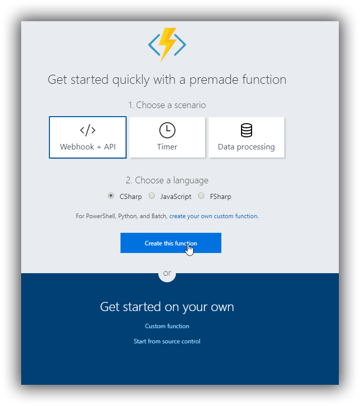 Azure Function Quick Start