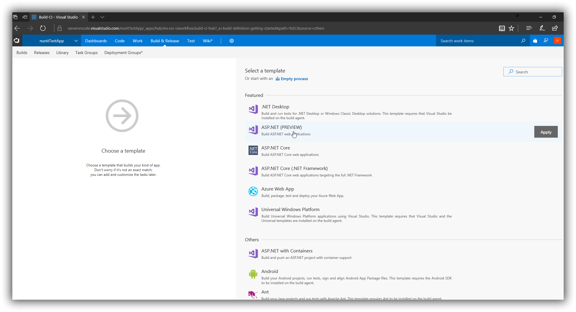 VSTS - New Build