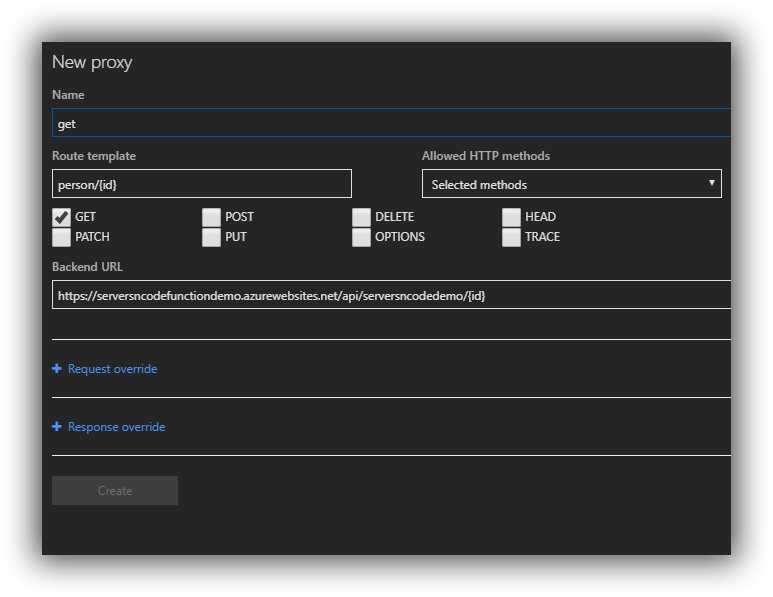 Define-Azure-Function-Proxy