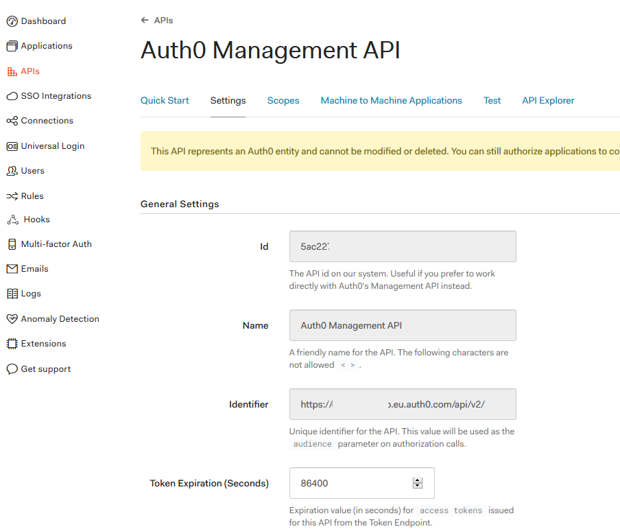 Using Auth0 to control Authentication in  Net Core 2 2