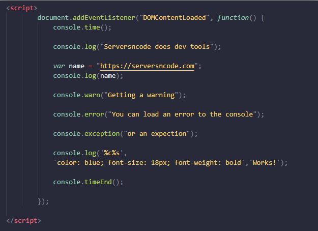 Exploring Dev Tools - Using Console